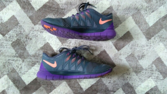 Tênis Nike 37 Cinza E Roxo