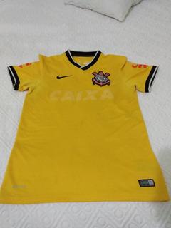 Camisa Corinthians Nike P 2014 Masculino Anúncios Apagados