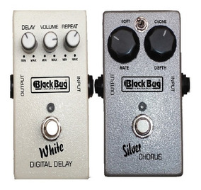 Set Pedal Delay Digital White E Silver Chorus Black Bug
