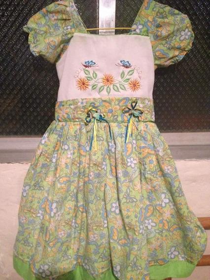 Vestido De Niña Talla 06 Excelente Calidad!!!