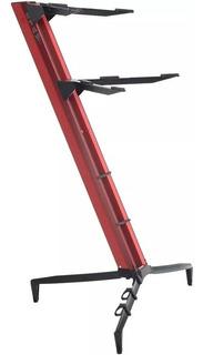Suporte 2 Teclados Stay Torre 1100/02 Aluminio Vermelho Bag