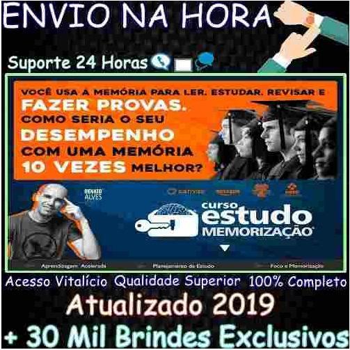 Curso Estudo E Memorização 2019 - Renato Alves + 30mil B