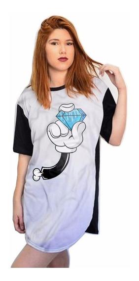 Camisetas Estilo Kings Vestidinho Swag Feminina Mouse