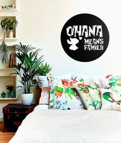 Imagem 1 de 2 de Quadro Decorativo Parede Escultura Ohana Lilo Stitch 60cm