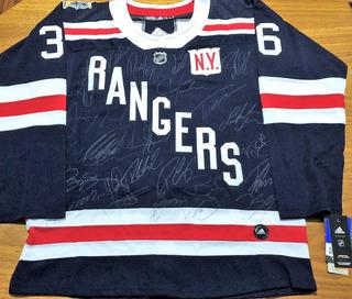 Camisa New York Rangers Winter Classic 2018 Autografada