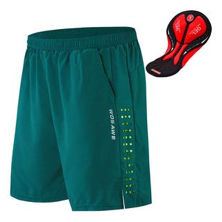 Pantalones cortos de ciclismo para hombres con ropa interior acolchada con gel
