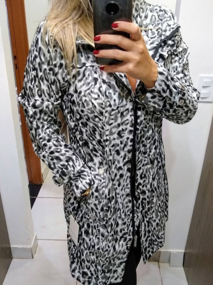 Casaco Capa Animal Print Calvin Klein
