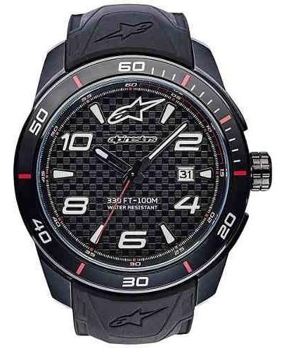 Relogio Alpinestars Tech Watch Prata Pulseira Silicone Preto