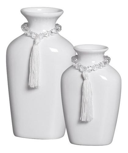 Promoção!! Dupla De Vasos Branco P/ Enfeite Criado Mudo