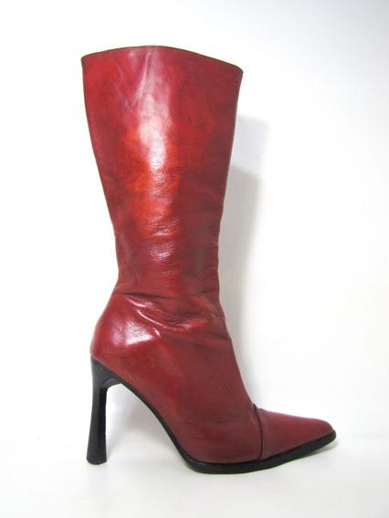 Zapatos Botas Paruolo Cuero Talla 38 Envío Gratis..¡¡