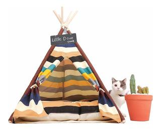 Little Dove Pet Teepee Cama Para Perro Y Gato Carpa Casa