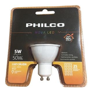 Lámpara Led Dicroica Gu10 5w Philco Pack X 6 Unidades