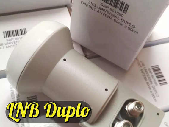 10 Lnb Duplo, 500 Fixa Fio Coaxial 7 + Extra