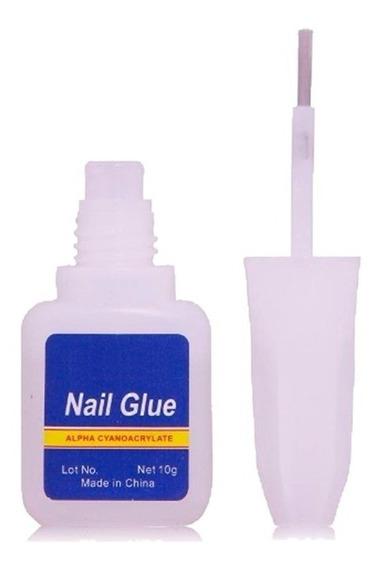 Pegamento Glue Con Pincel Uñas Y Decoracion 10gr Lfme