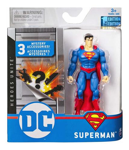 Imagem 1 de 5 de Boneco Superman Dc 3 Acessorios Misteriosos Sunny Brinquedos