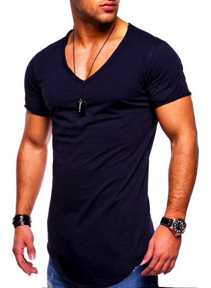 Kit 5 Camisetas Masculina Long Line Oversized Swag Elastano