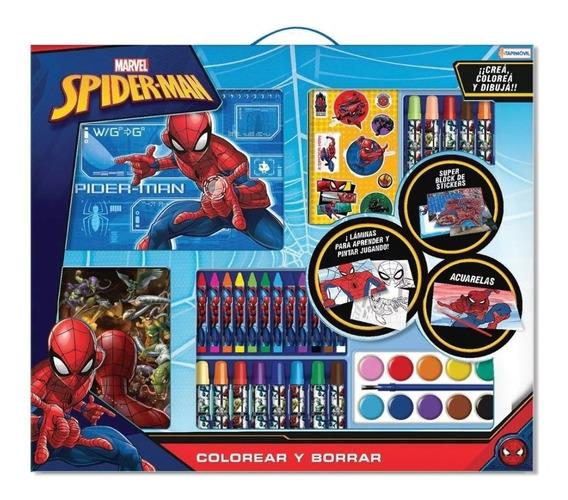 Spiderman Mega Set Actividades Crayones 100 Piezas Avengers