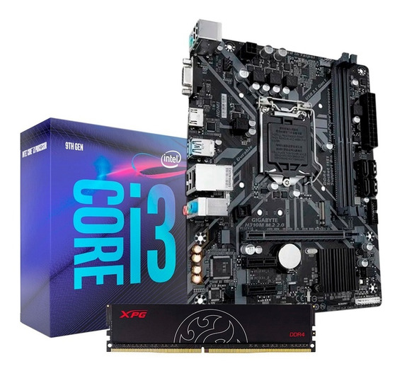 Combo Actualización Intel Core I3 9100 H310m-m.2 8gb Ddr4 Pc