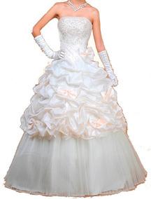 Vestido De Noiva - Salmão - 40 - Pronta Entrega - Vn00214