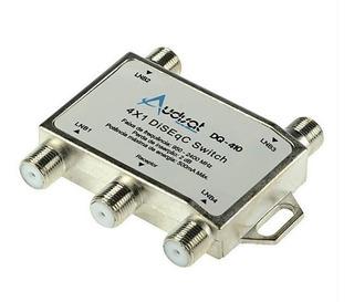 Switch Llave Diseqc Audisat 4x1 Banda C Ku Antena Satelital
