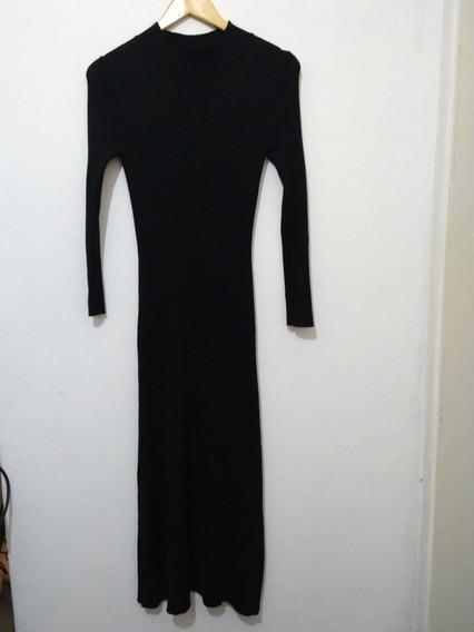 Vestido Negro Largo Akiabara Mujer