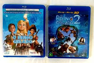 Bluray Reino Gelado 1 E 2 - 2d E 3d - Original -
