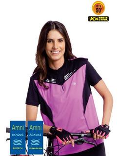 Camisa Ciclismo Feminina Proteção Solar Fps50 Anti Uv Kanxa