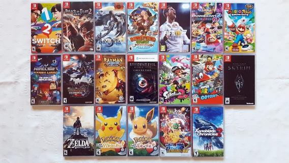 Jogos Nintendo Switch - Zelda Mario Pokemon - Ver Descrição