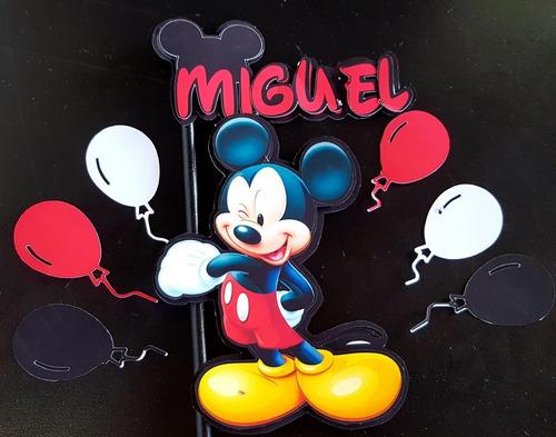 Imagem 1 de 2 de Topo De Bolo Mickey Mouse