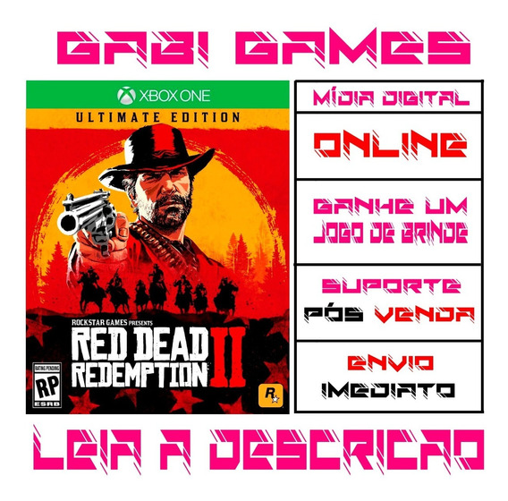 Red Dead Redemption 2 Ultimate Edition Xbox One Online + Brinde