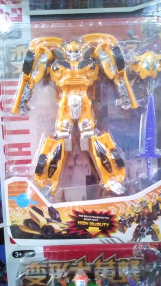 Juguete Transformers Figura 18cm Muñeco Niños Robots Carros