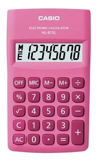 Calculadora Hl-815l Pink 8 Digitos Casio