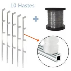 Kit Manutenção Para Cerca Eletrica 10 Hastes + Arame