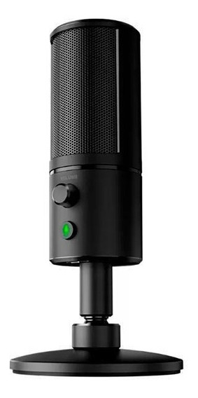 Microfone Razer Seiren X Rz19-02290100-r3u1 Usb/mini Jack 3.5 Mm - Preto