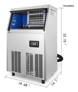 Maquina Fabricar Hielo (acero Inoxidable) Comercial 110 Lbs