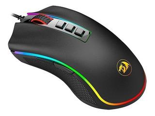 Mouse Gamer Redragon Cobra Rgb Sensor Optico 8 Teclas