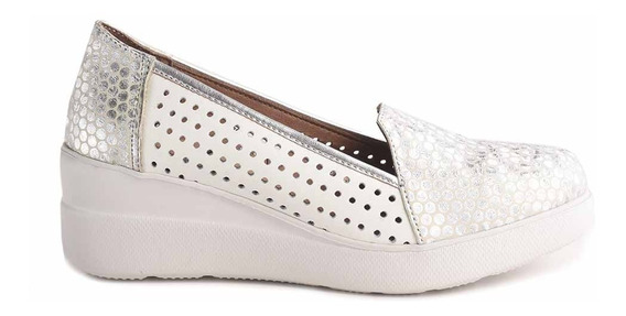 Zapato Clásico Mujer Cuero Briganti Base De Goma Mccz33053