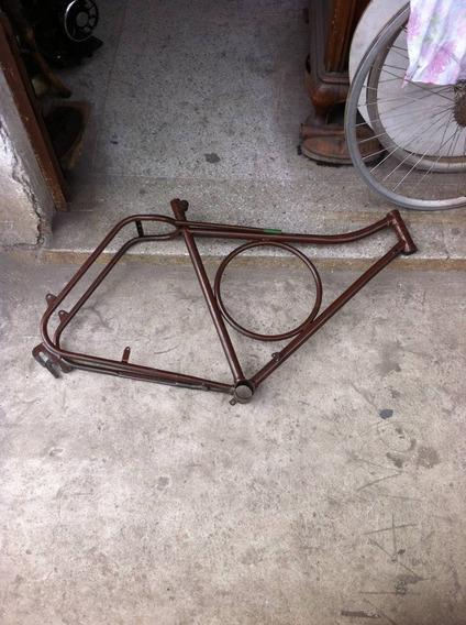 2266 Quadro Monark Bicicleta Barra Circular Aro 26 - Antigus