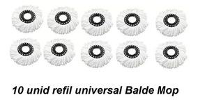 10 Refil De Microfibra Universal Para Balde Mop Esfregão
