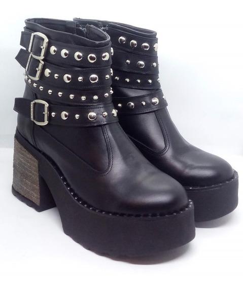 Botas Mujer Plataforma Cuero Riot Art 185 Zona Zapatos
