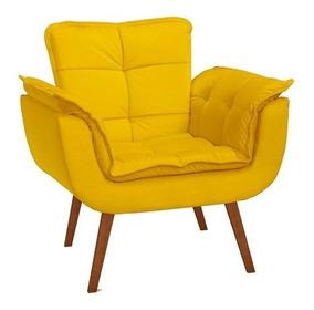 Poltrona Opalla Decor 01 Lugar Amarelo-promoção