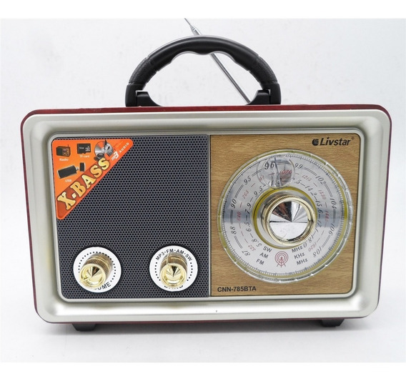 Radio Retro Portátil Antigo Bluetooth Am/fm Pen Drive
