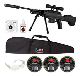 Carabina Pressão Black Ops 5.5mm Gás Ram 60kg + Luneta 4x32