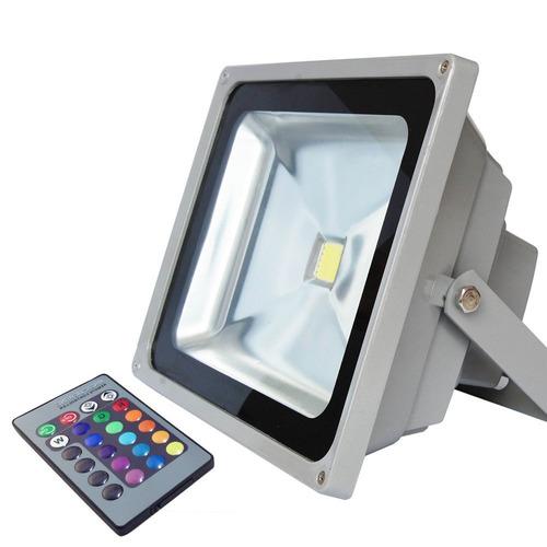 Reflector Led 30w 220v Rgb Con Control Incluido Dimerizable