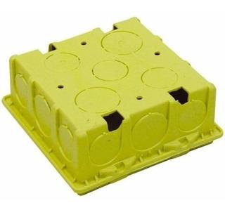 Caixa Plastica 4x4 Luz Amarela Mondiale Cx/50