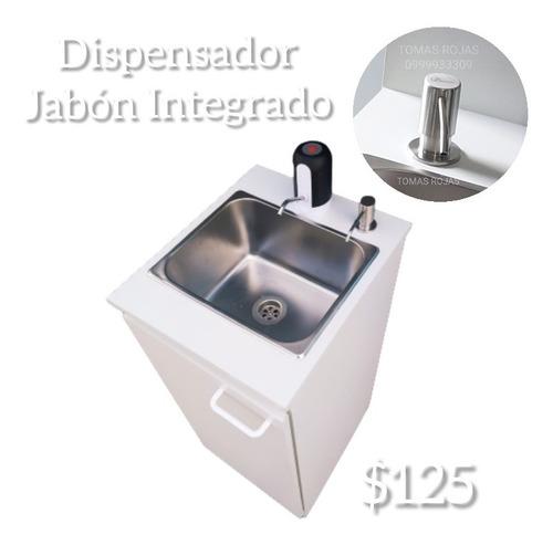 Imagen 1 de 9 de Lavamanos Portátiles Portátil Dispensador Jabón Incrustado