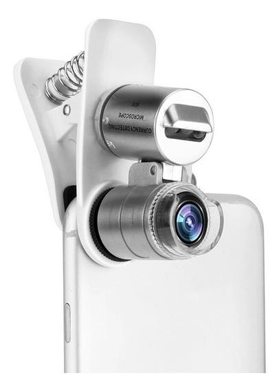 Mini Microscópio 60x Bolso Led Lupa Celular Tablet Lupa