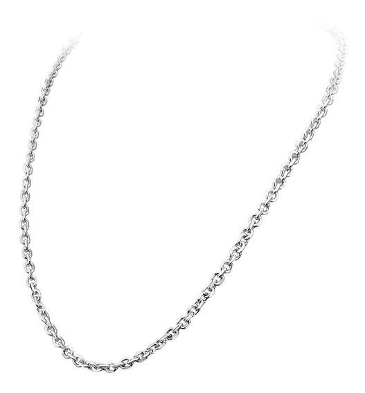 Corrente De Prata Cadeado Largura - 5,4 Mm