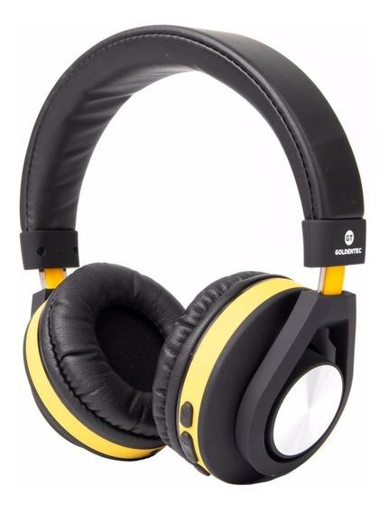 Fone Headphone Bluetooth Gt Follow Goldentec Amarelo