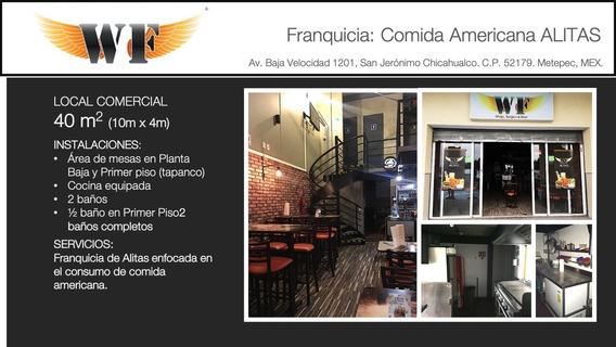 Traspaso Restaurante Alitas Wings Factory Metepec!
